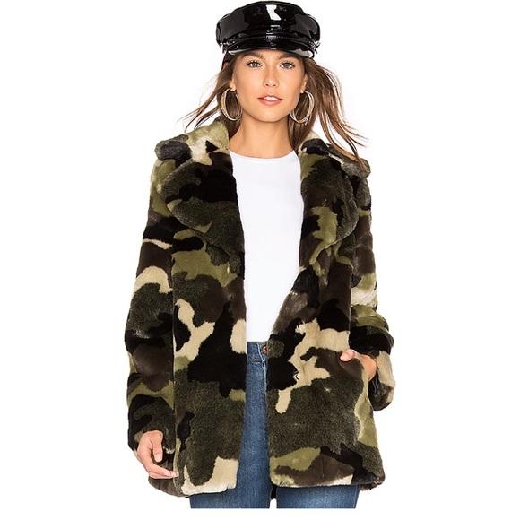 John + Jenn Jackets & Blazers - John and Jenn Faux Fur Jacket in Army